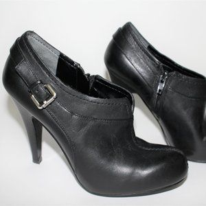 Nine West Black Leather Heel Shoes